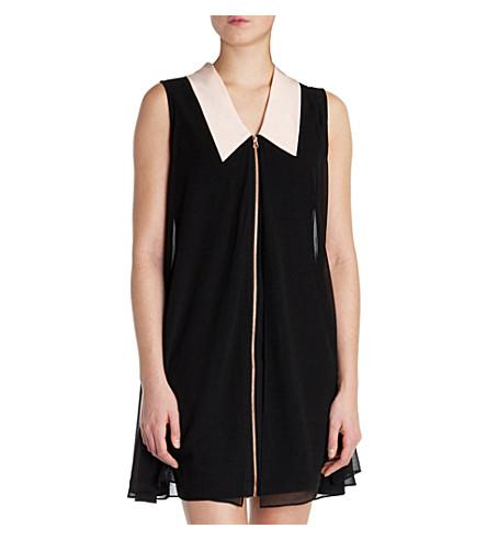TED BAKER Belloh collar detail tunic dress (Black