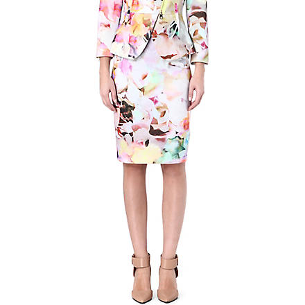 TED BAKER Amarant floral printed skirt (Lemon