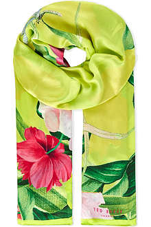 TED BAKER Tea party floral printed scarf