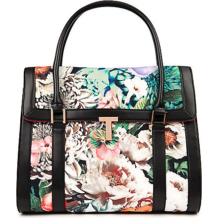 TED BAKER Renise tangled floral print tote (Ivory