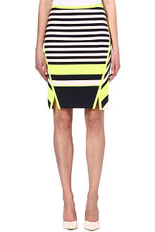 TED BAKER Stretch-jersey striped skirt