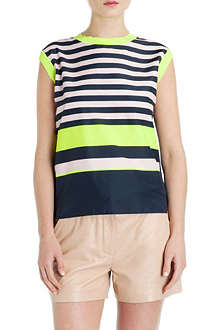 TED BAKER Darlah striped sleeveless top