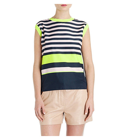 TED BAKER Darlah striped sleeveless top (Navy