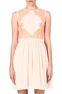 TED BAKER Vember lace colour block dress