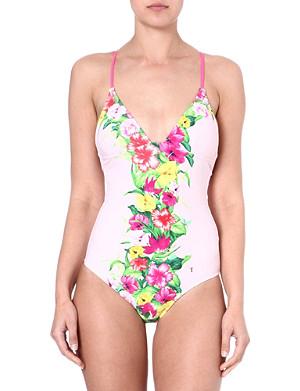 TED BAKER Pemberr floral-printed swimsuit