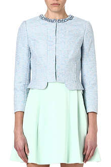 TED BAKER Abina beaded cropped jacket