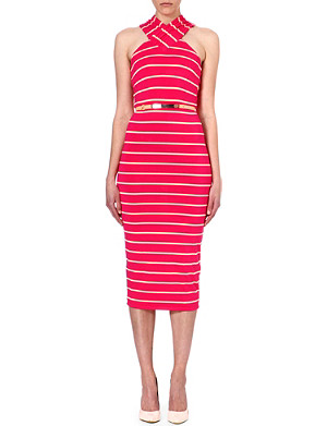 TED BAKER Canna cross over neck dress