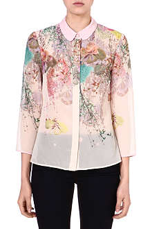 TED BAKER Annla wispy meadow print shirt