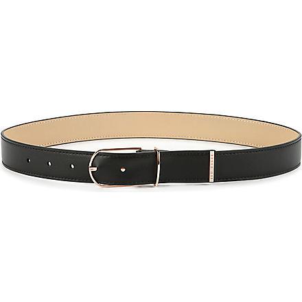 TED BAKER Julo classic leather belt (Black