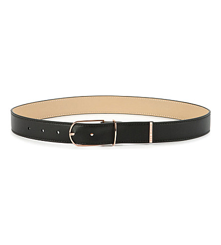 TED BAKER Julo classic leather belt (Black