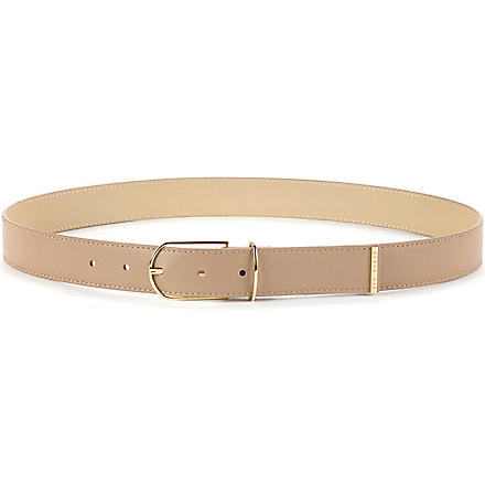 TED BAKER Julo classic leather belt (Natural
