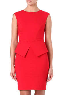 TED BAKER Structured peplum dress