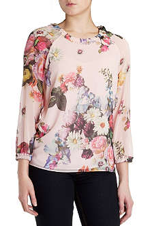 TED BAKER Anina oil painting top