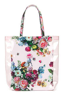 TED BAKER Floral printed shopper