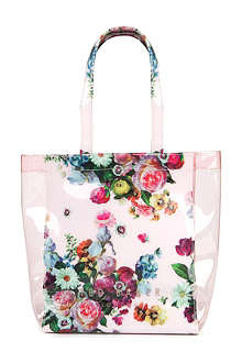TED BAKER Oliocon floral printed shopper bag