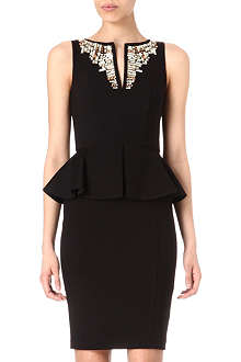 TED BAKER Embellished neckline dress