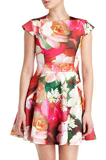 TED BAKER Roziey rose on canvas print dress