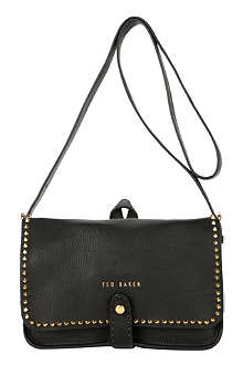 TED BAKER Studded leather crossbody bag