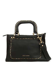 TED BAKER Leather stab stitch bag