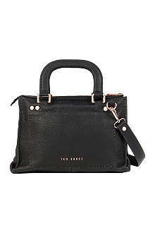 TED BAKER Leather stab-stich tote bag