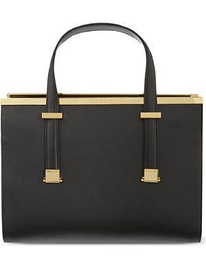 TED BAKER Studded leather shoulder bag