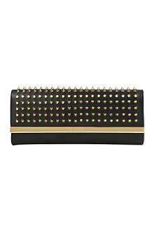 TED BAKER Olivets studded metal bar clutch