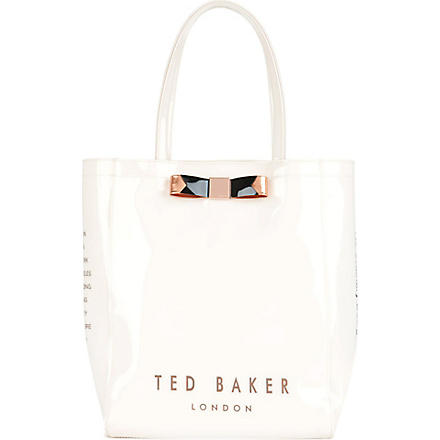 TED BAKER Emacon bow shopper bag (Cream