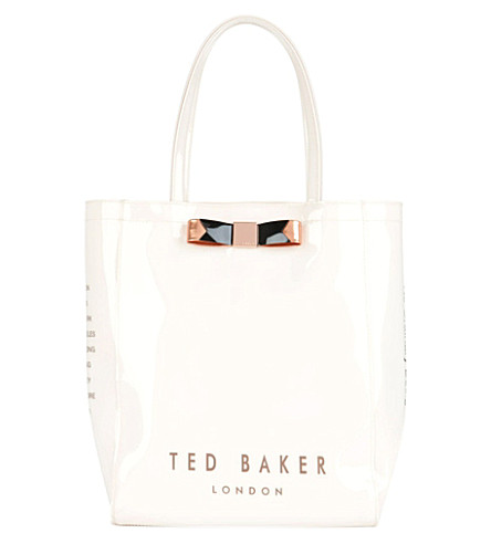 TED BAKER Emacon bow shopper bag (Cream
