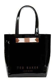 TED BAKER Revcon small bow shopper bag