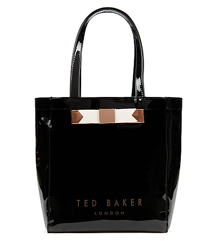 TED BAKER Revcon small bow shopper bag (Jet