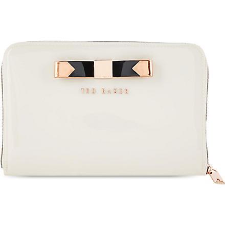 TED BAKER Talcon bow mini tablet case (Cream