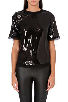 TED BAKER Pansina sequin panel top