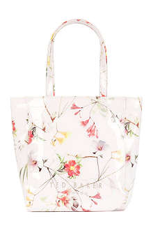 TED BAKER Tancon small botanical bloom-print shopper bag