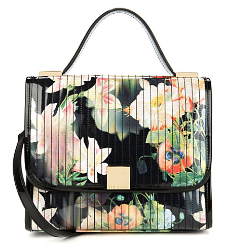 TED BAKER Opela opulent bloom shoulder bag (Black