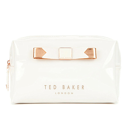 TED BAKER Piave small bow wash bag (Cream