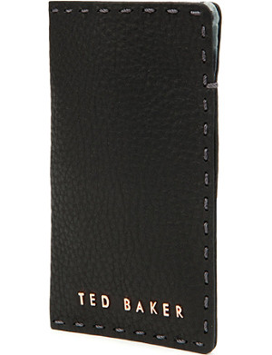 TED BAKER Leather phone sleeve