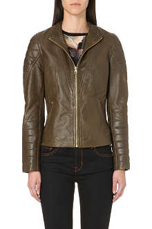 TED BAKER Quilted leather jacket