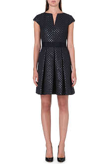 TED BAKER Carice metallic-jacquard dress