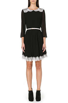 TED BAKER Lace pleat dress