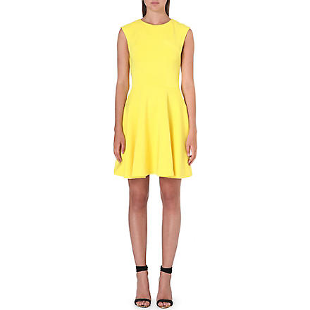 TED BAKER Arwyn panelled skater dress (Yellow
