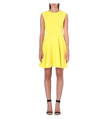 TED BAKER Arwyn panelled skater dress (Yellow