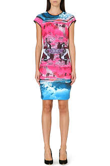 TED BAKER Road to Nowhere print dress