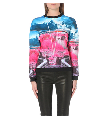 TED BAKER Louize road to nowhere sweatshirt (Mid pink