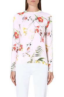 TED BAKER Floral-print top