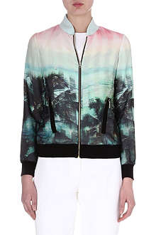 TED BAKER Boyanna palm tree printed bomber jacket