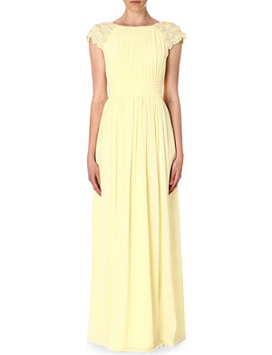 TED BAKER Eleeia pleated maxi dress