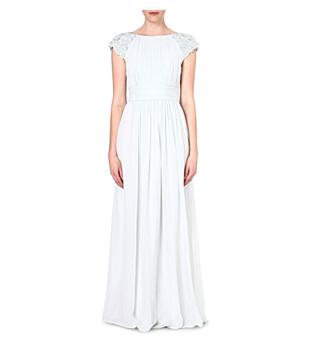 TED BAKER Eleeia pleated maxi dress (Mint