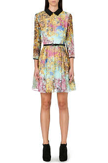TED BAKER Pretty Trees chiffon dress