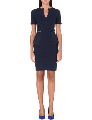 TED BAKER Peplum tailored dress