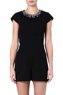 TED BAKER Evelin embellished-neckline playsuit